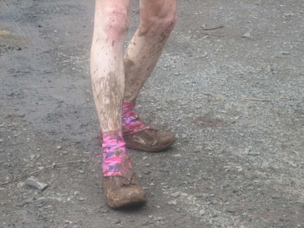 Mud was the name of the game during the race.